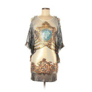ESHA Design Boho Indian Tunic Top Mini Dress Sheer